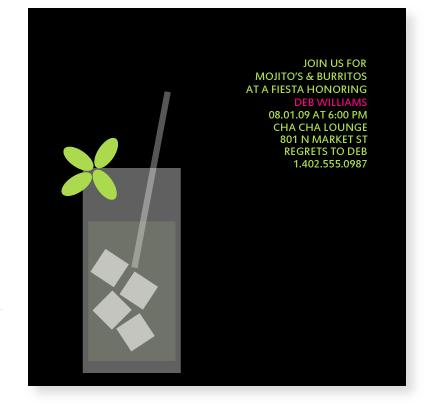 party invitations MOJITO at Minted – Party Invitations Designs