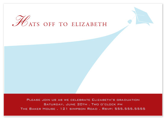 party invitations - Hats Off by Sharon