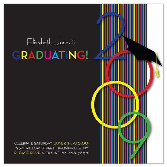 party invitations - Colorful2009Grad by Amy