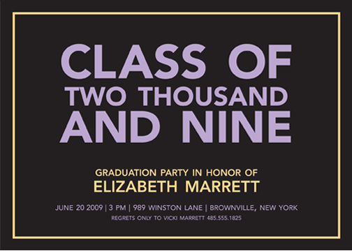 party invitations - Graduation Day by Susan McArdle