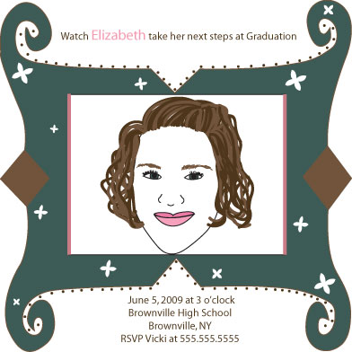 party invitations - Frame of Elizabeth by Meggie Kaplan