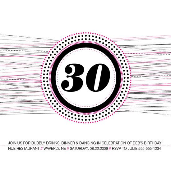 party invitations - Bubbly by Ashley Howard