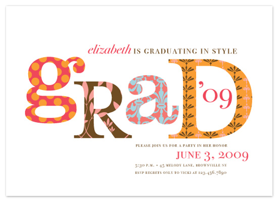 party invitations - graduating in style by pottsdesign