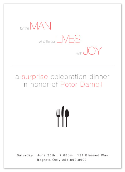 party invitations - For The Man by Sharon