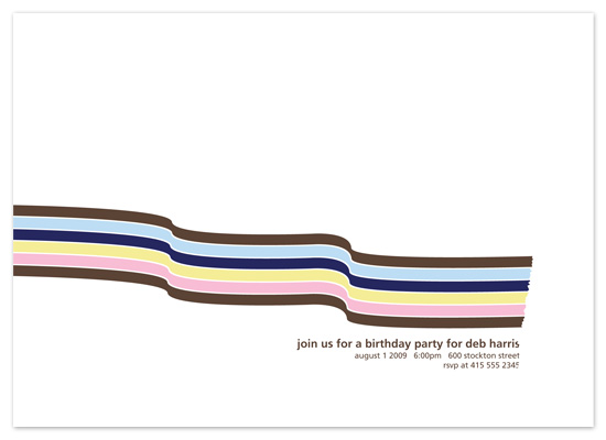 party invitations - Ribbon by Alister Lee