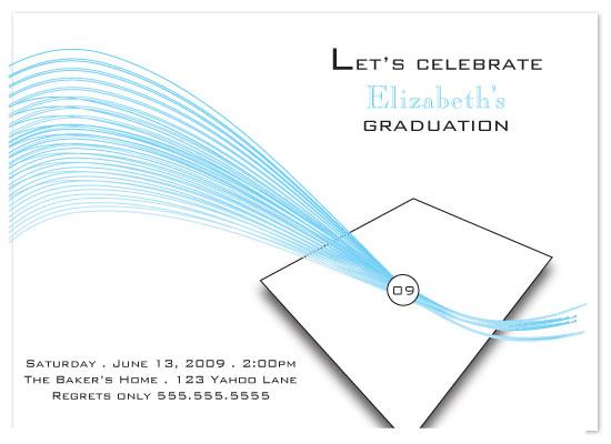 party invitations - Cap & Tassel by Sharon