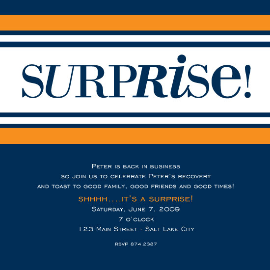 party invitations - Striped Surprise by Emily McCarthy