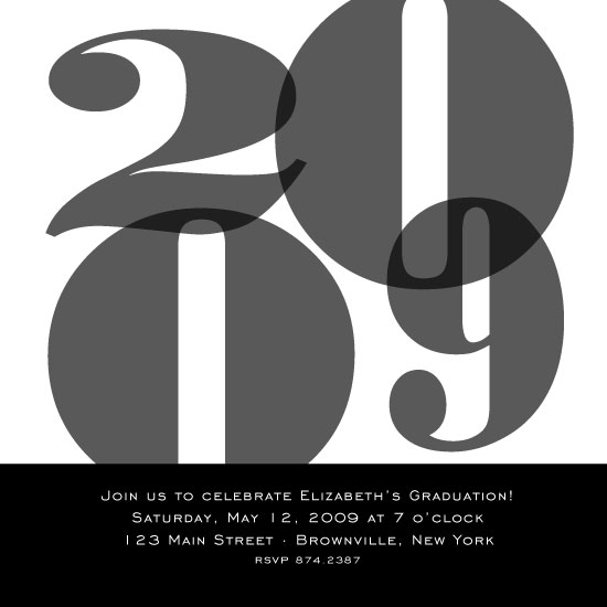 party invitations - Grey Graduation by Emily McCarthy
