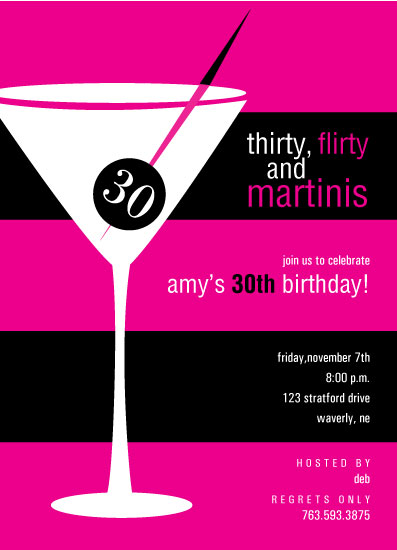 party invitations - Martini 30 by Emily McCarthy