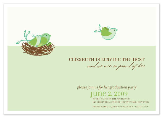 party invitations leaving the nest at minted com