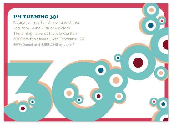 party invitations - 30 Circles by Raquel Salaro