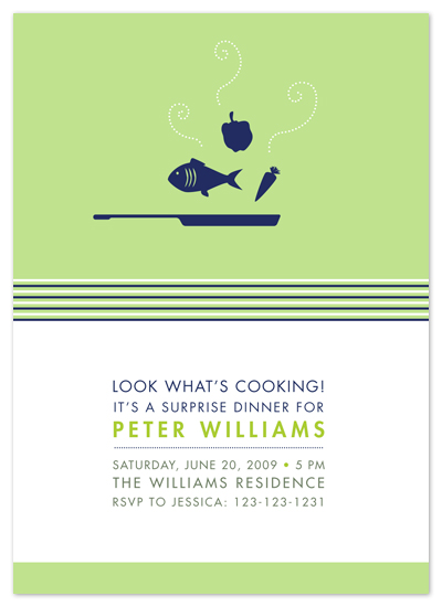 party invitations - What's Cooking by Amanda Larsen Design