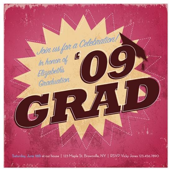 party invitations - Star Grad by Amy