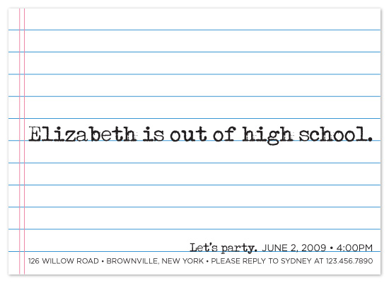 party invitations - Goodbye High School by sweet street gals