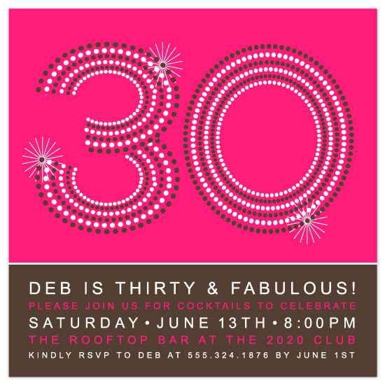 party invitations - glamorous 30 by lauren mummé