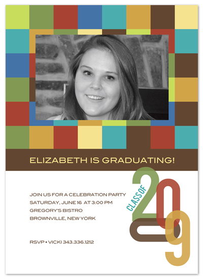 party invitations - colorful grad by Carrie Eckert