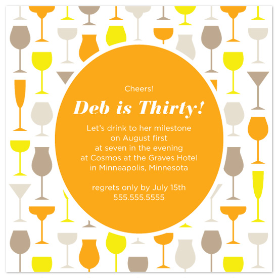party invitations - Thirty Cheers by Maddy