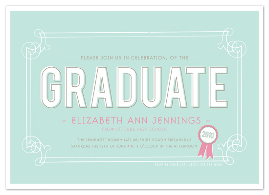 party invitations - The Graduate by The Social Type
