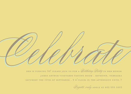 party invitations - Celebrate by The Social Type