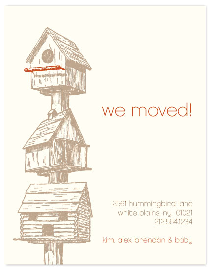 moving announcements - Birdhouses by Three Kisses Studio