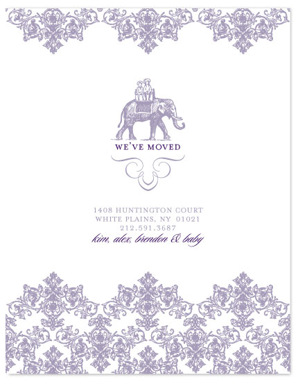 moving announcements - Elegant Elephant by Three Kisses Studio