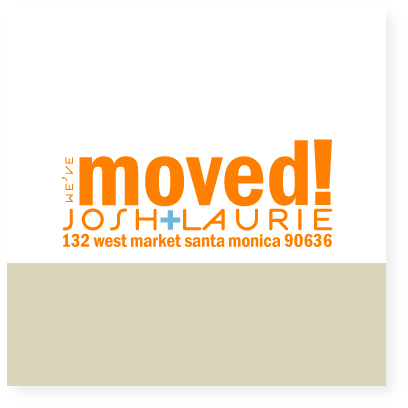 moving announcements - moving by Marabou Design