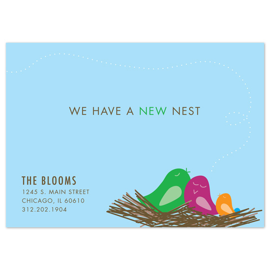 moving announcements - New Nest  by Sublime Design