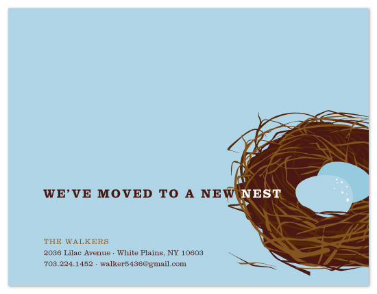 moving announcements - a new nest by sweet tree studio