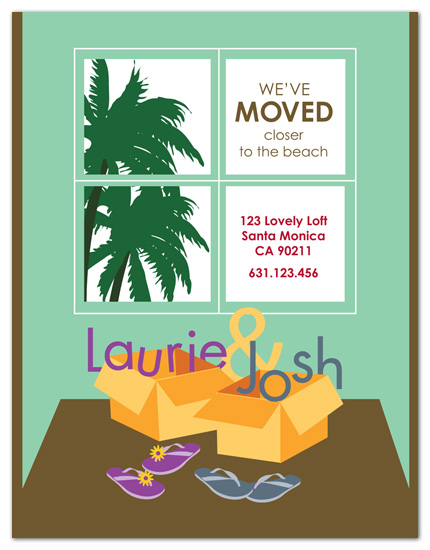 moving announcements - Closer to the Beach by 2+1 Design