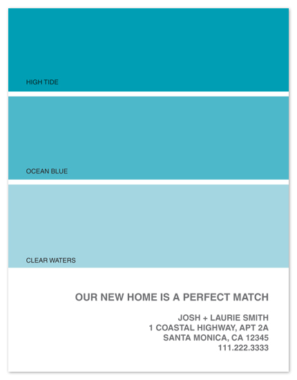 moving announcements - The Perfect Match by Amanda Larsen Design