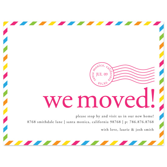 moving announcements - Cali Postmark by Be True Designs