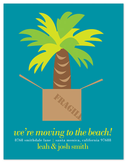 moving announcements - Palm Tree Box by Be True Designs