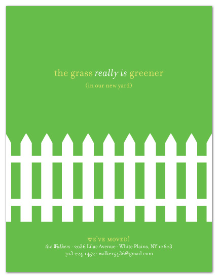 moving announcements - the grass is greener by sweet tree studio