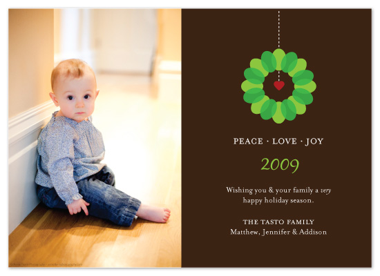 holiday photo cards - Peace Love Joy by McKenzie Estes