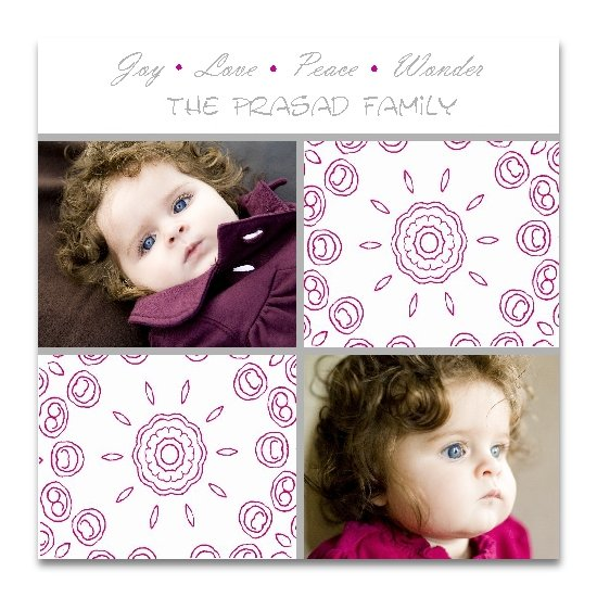 holiday photo cards - Holiday Swirls  by Lemon Lizard Designs