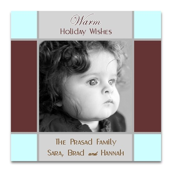 holiday photo cards - Color Blocks by Lemon Lizard Designs