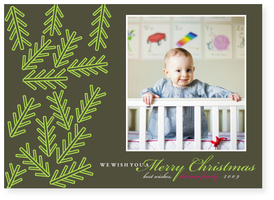 holiday photo cards - evergreen by Marabou Design