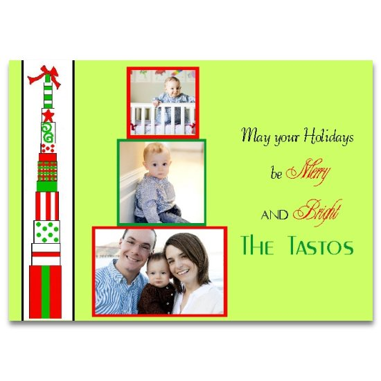 holiday photo cards - Tall presents by Lemon Lizard Designs