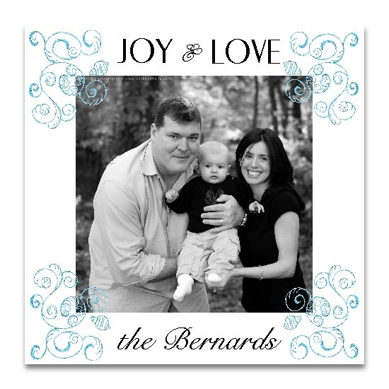 holiday photo cards - shell swirls by Lemon Lizard Designs