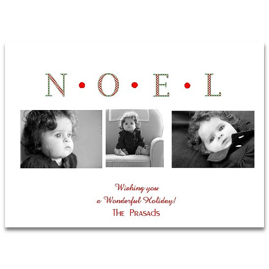 holiday photo cards - Plaid Noel by Lemon Lizard Designs