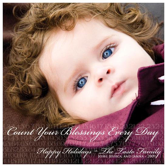 holiday photo cards - Count Your Blessings by Kristy Fischer