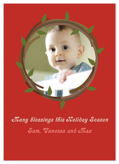 holiday photo cards - Modern Wreath by Studio Celeste