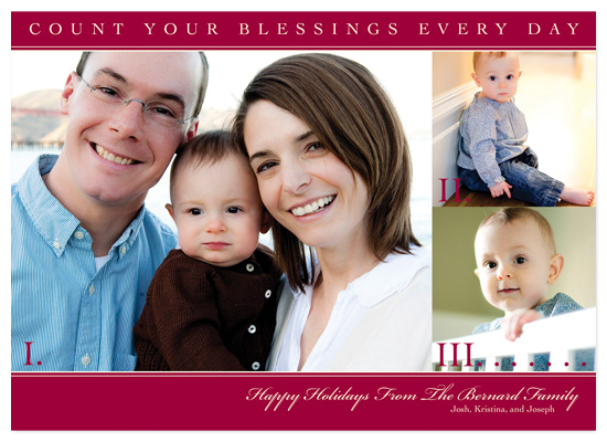 holiday photo cards - Colorful Blessings by Kristy Fischer