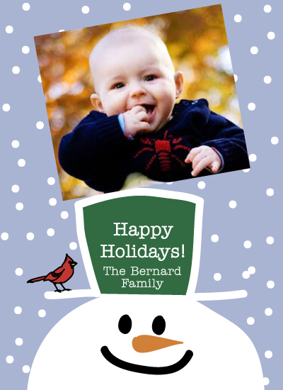 holiday photo cards - SnowmanCardinal09 by Dan H.