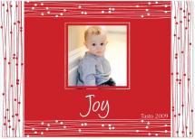 Red Beaded Frame by J Sosa