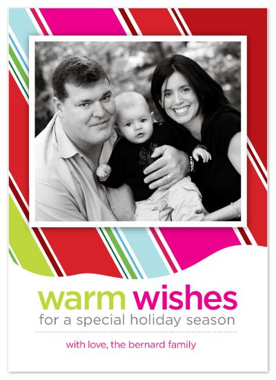 holiday photo cards - Festive Stripes by Julie Bay