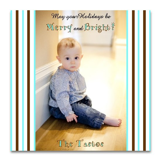 holiday photo cards - merry and bright by Lemon Lizard Designs