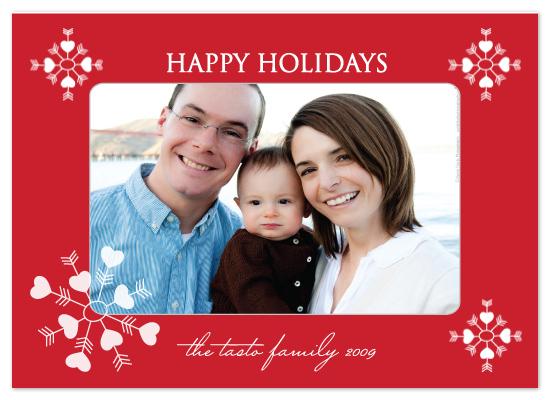 holiday photo cards - HeartFlakes by Avery