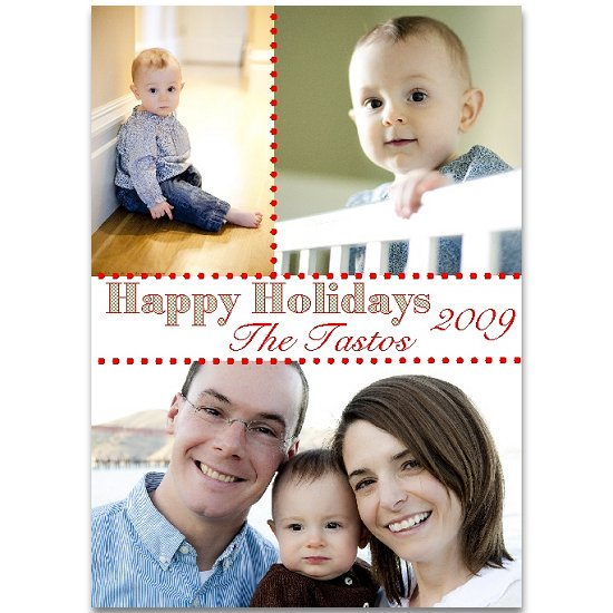 holiday photo cards - polka dot  by Lemon Lizard Designs