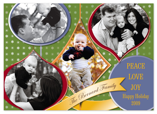holiday photo cards - Ornaments Cutout by 2+1 Design
